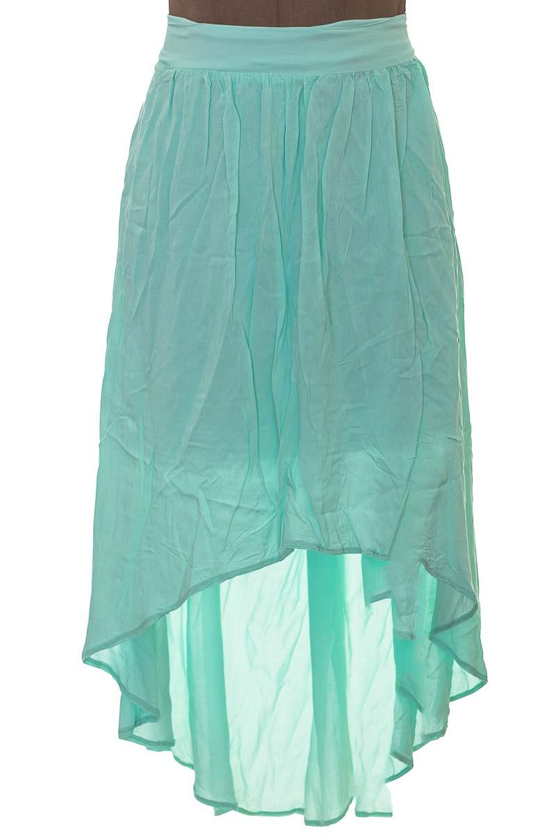 Falda Casual color Verde - Basement