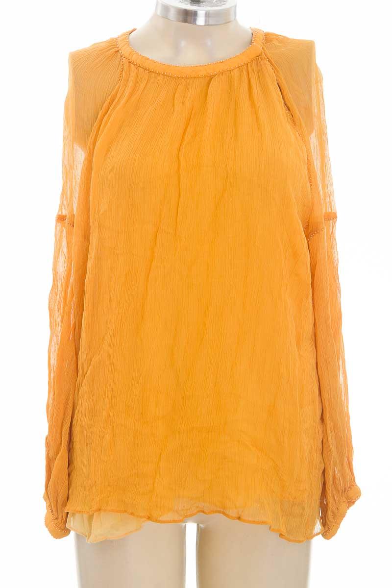 Blusa color Mostaza - Zara