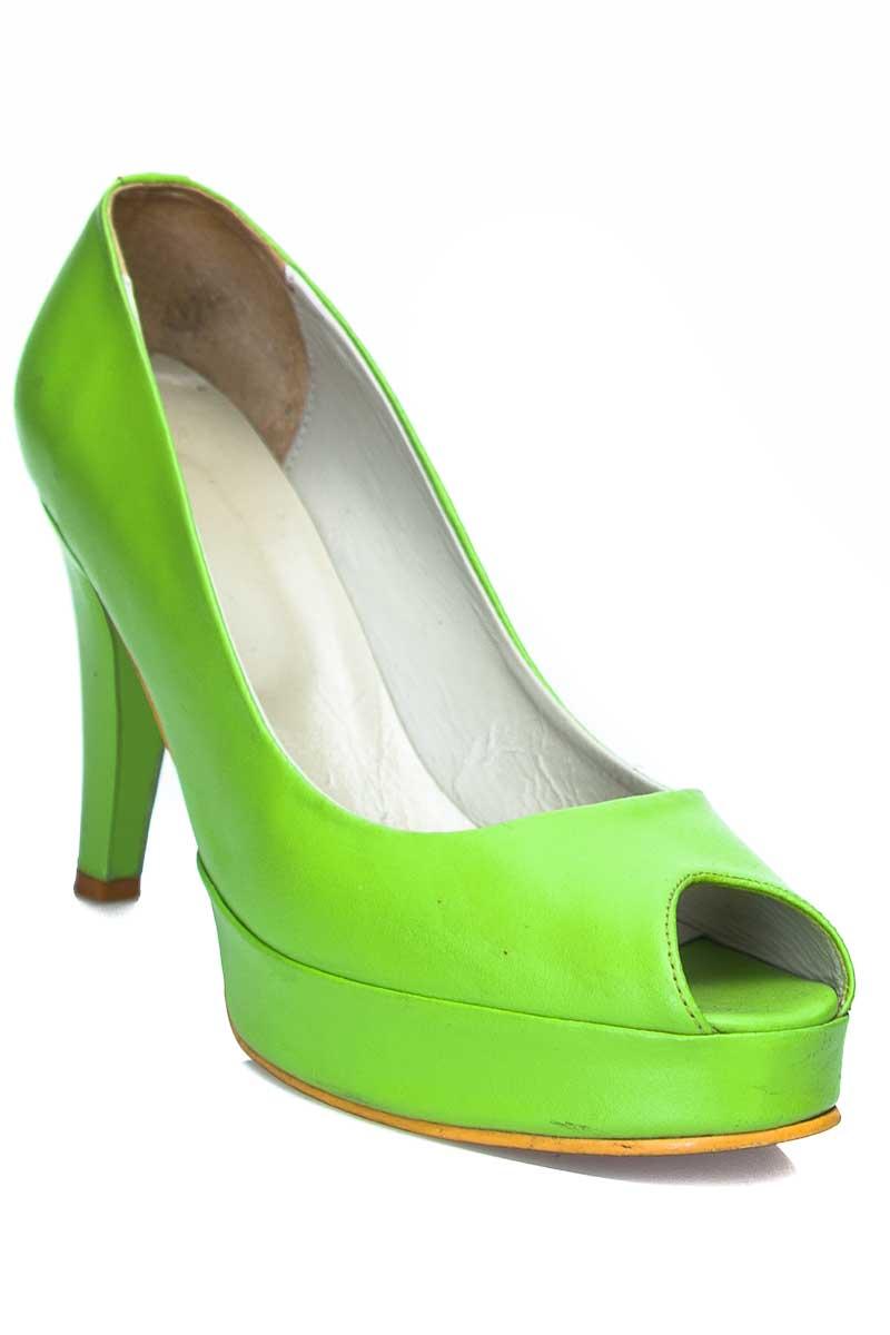 Zapatos Tacón color Verde - Closeando