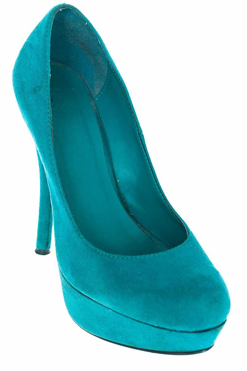 Zapatos Tacón color Aguamarina - Closeando