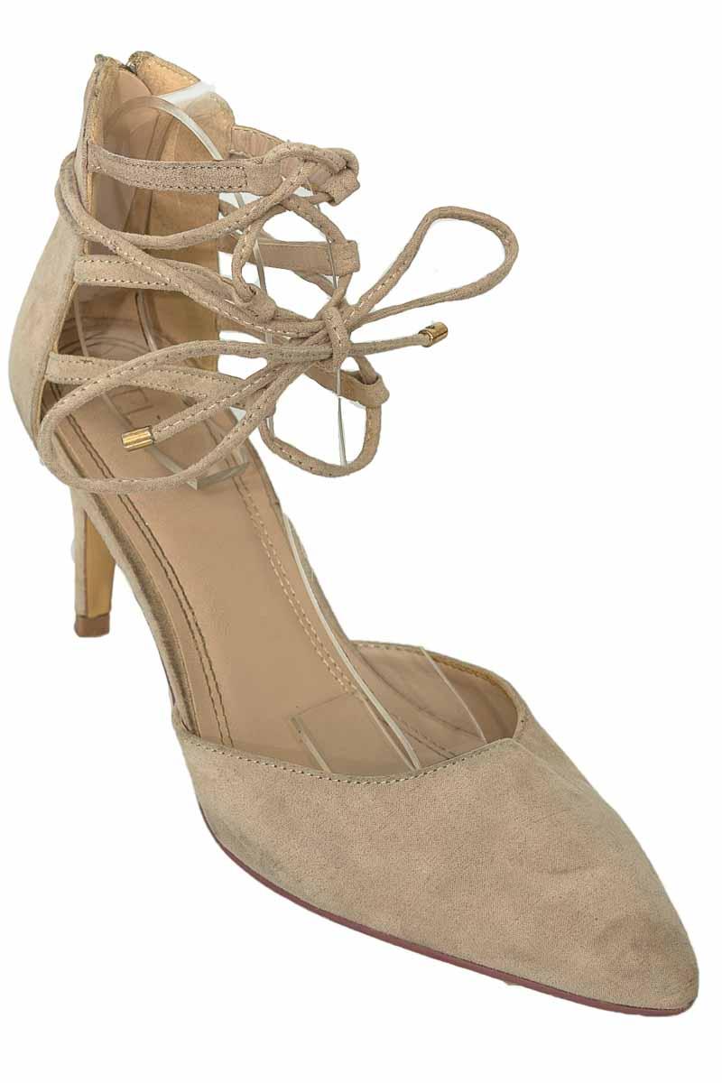 Zapatos Tacón color Beige - ELA