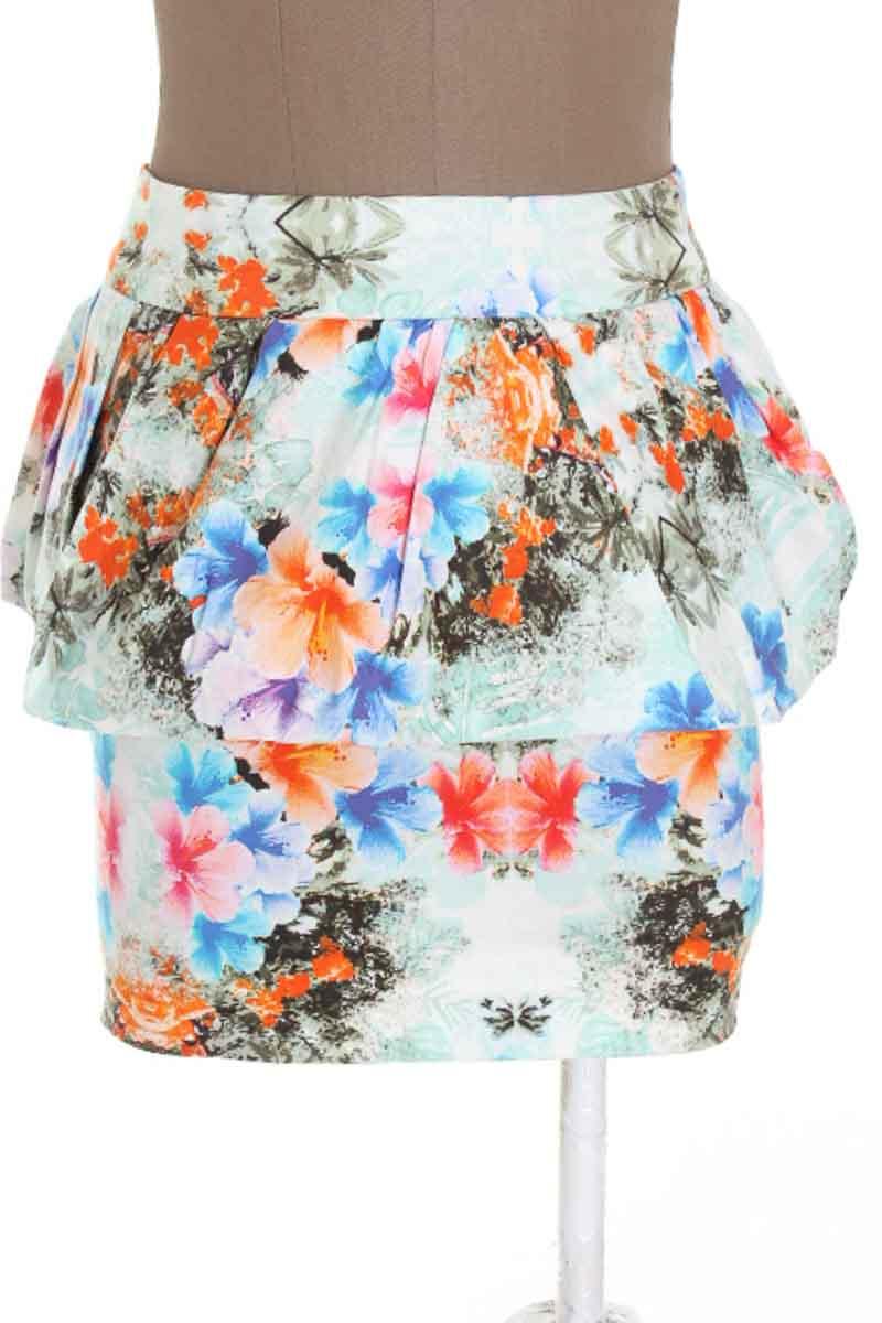 Falda Casual color Estampado - Zara