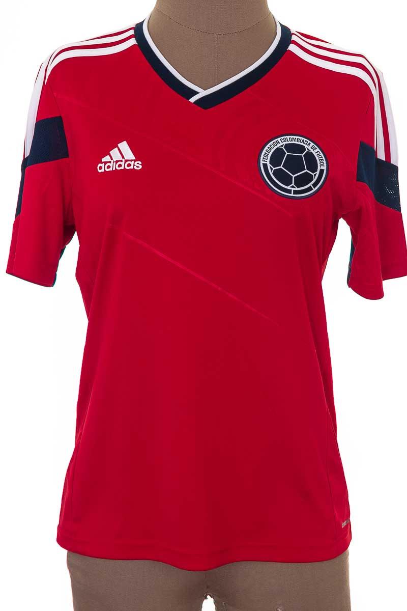 Ropa Deportiva / Salida de Baño Camiseta color Rojo - Adidas