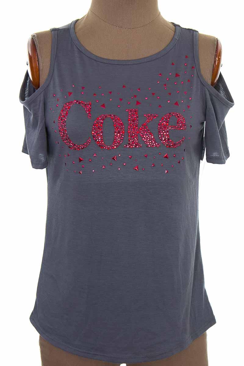 Top / Camiseta color Gris - Coca cola