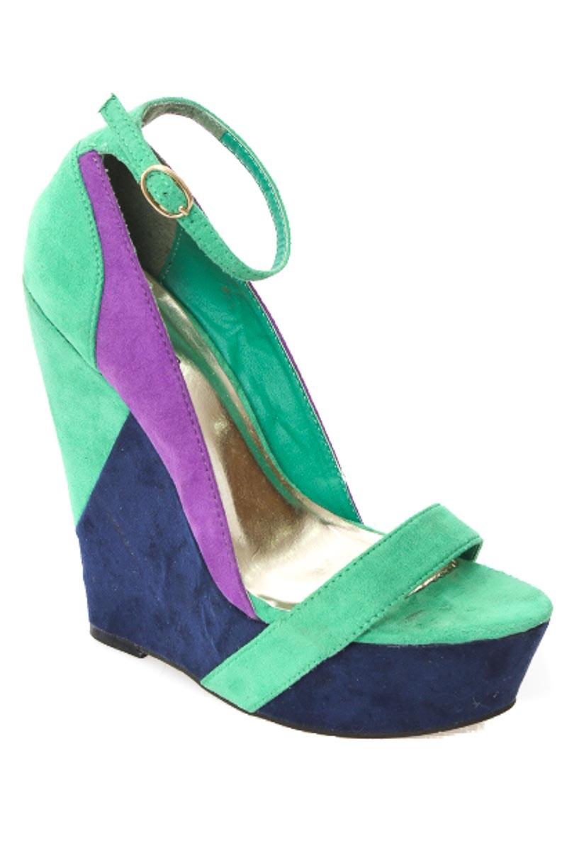 Zapatos Sandalia color Verde - Aishop