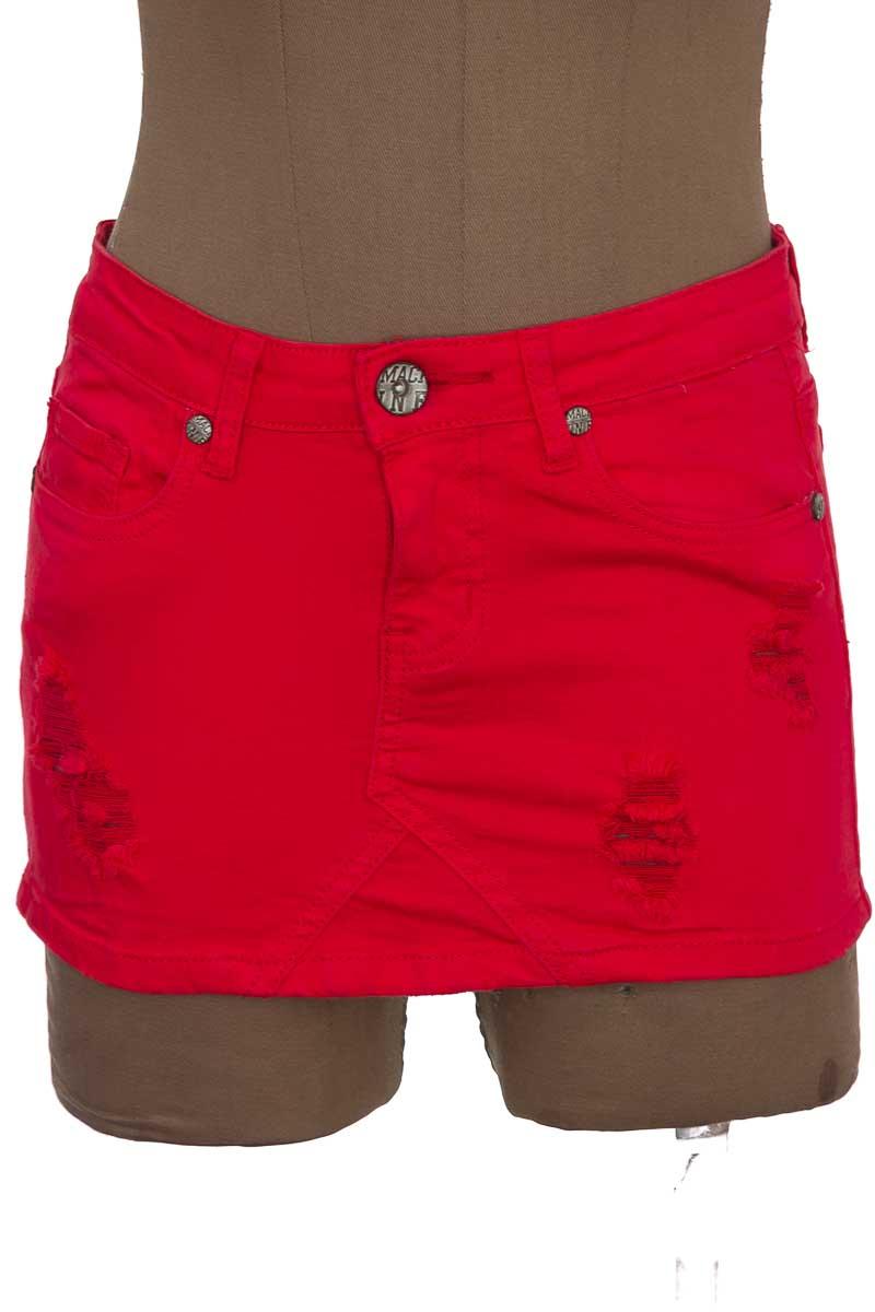 Falda Jean color Rojo - Machine
