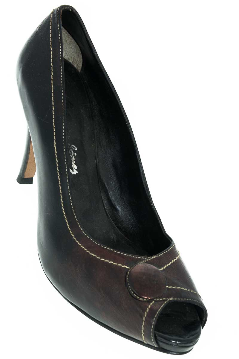 Zapatos Tacón color Café - Silvia Gomez