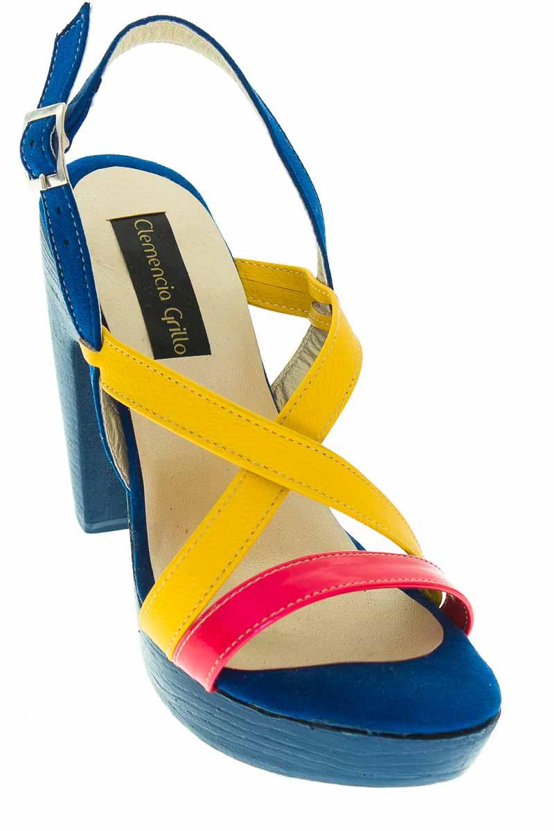 Zapatos Sandalia color Azul - Clemencia Grillo