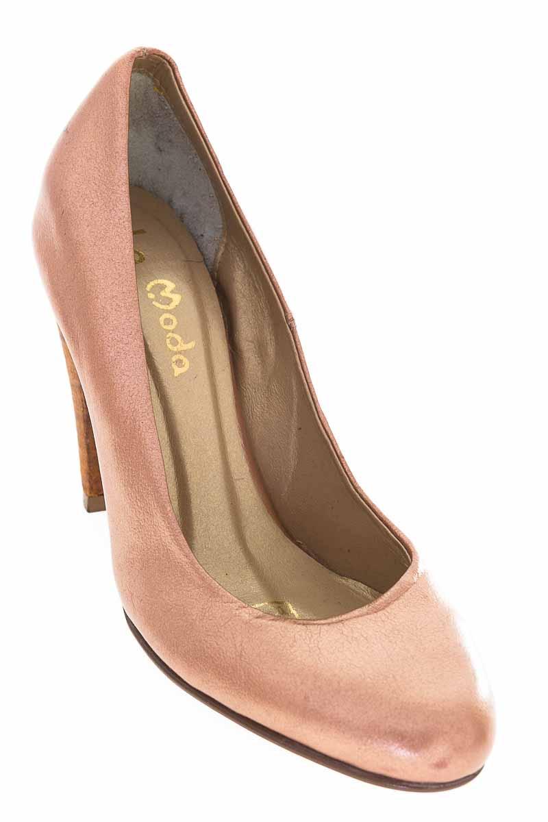 Zapatos Tacón color Bronce - La Moda