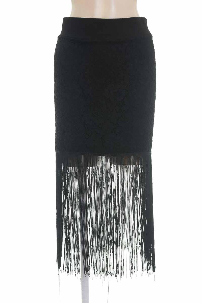 Falda color Negro - Azul Cielo