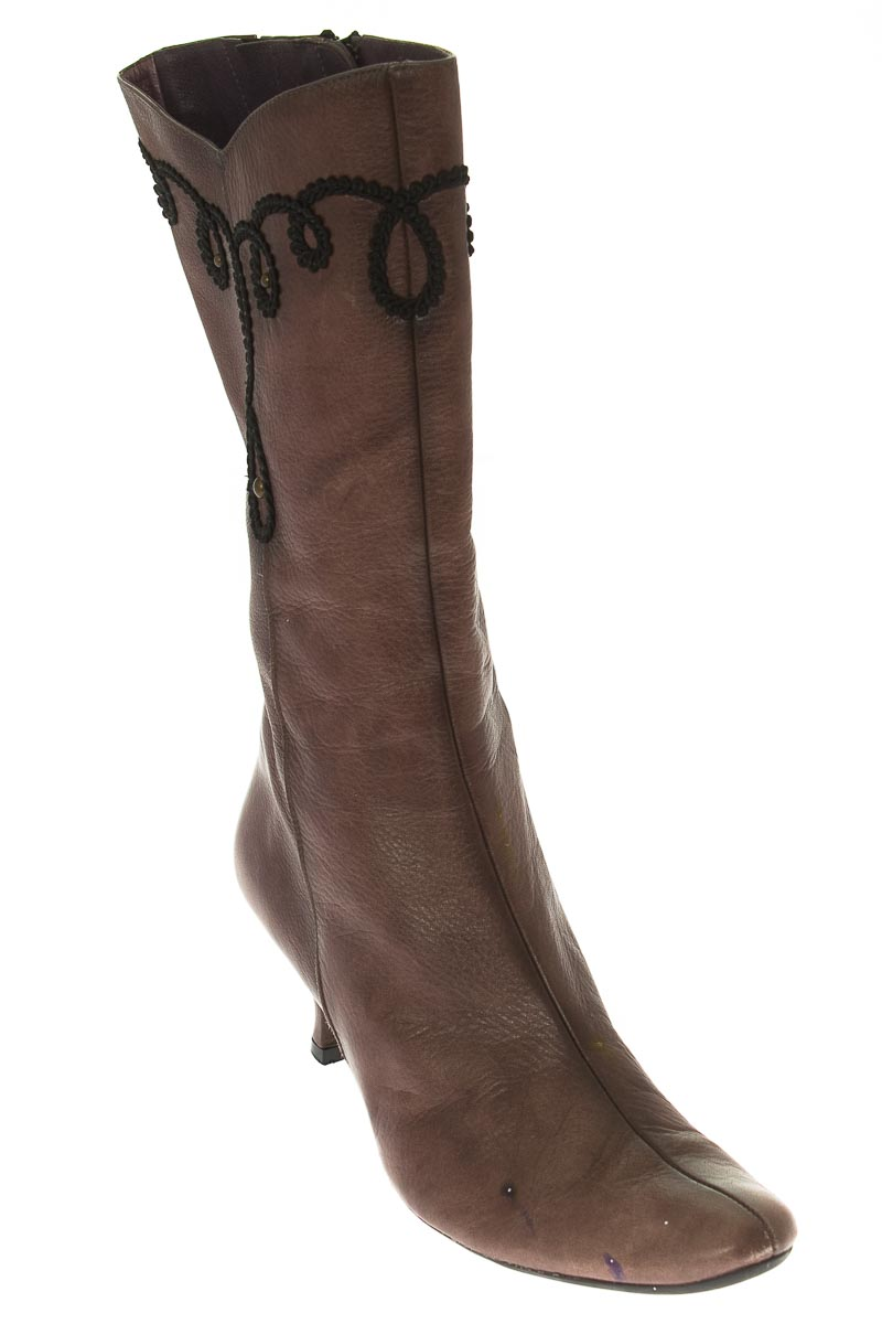 Zapatos Bota color Café - Hispanitas
