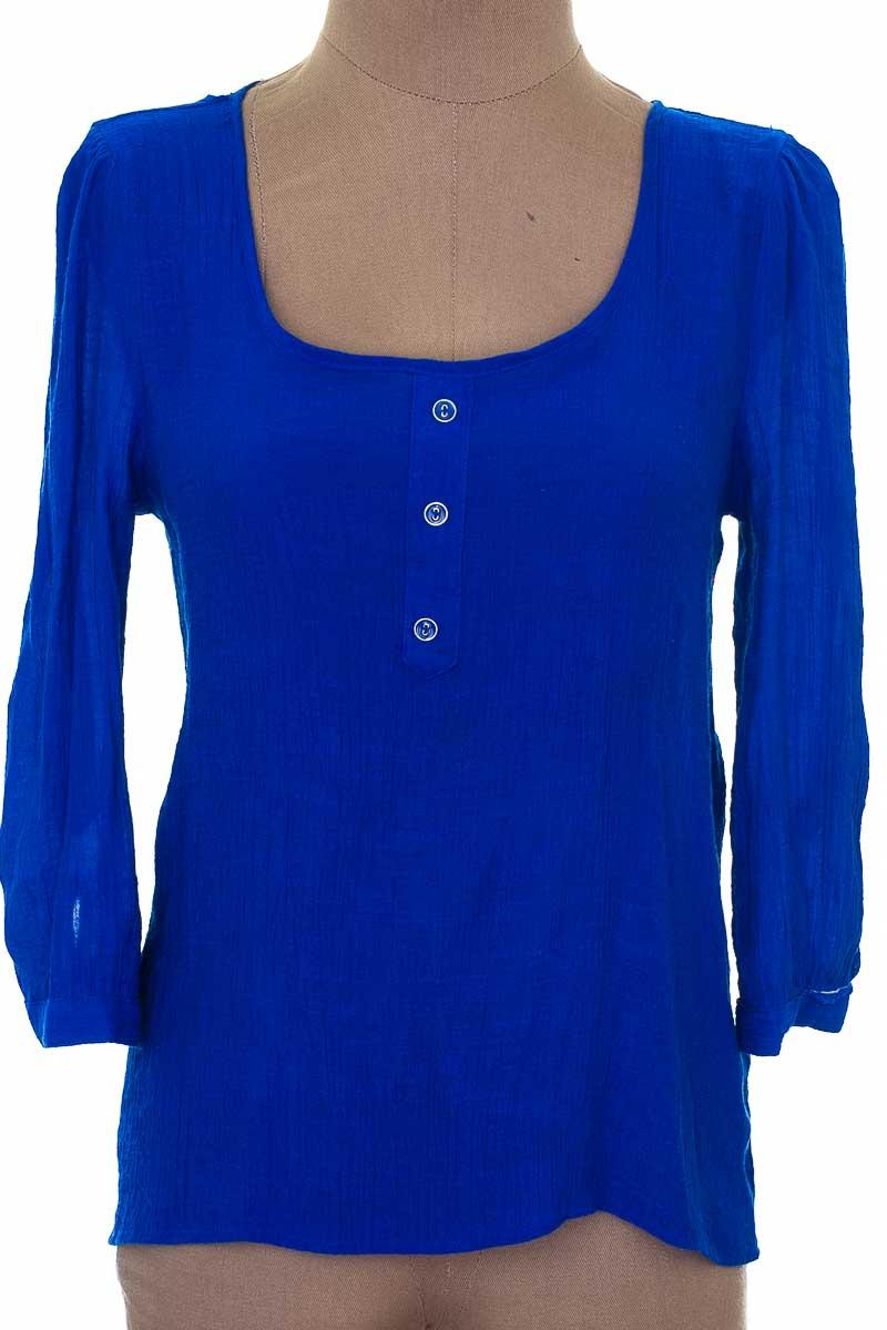 Blusa Casual color Azul - Closeando