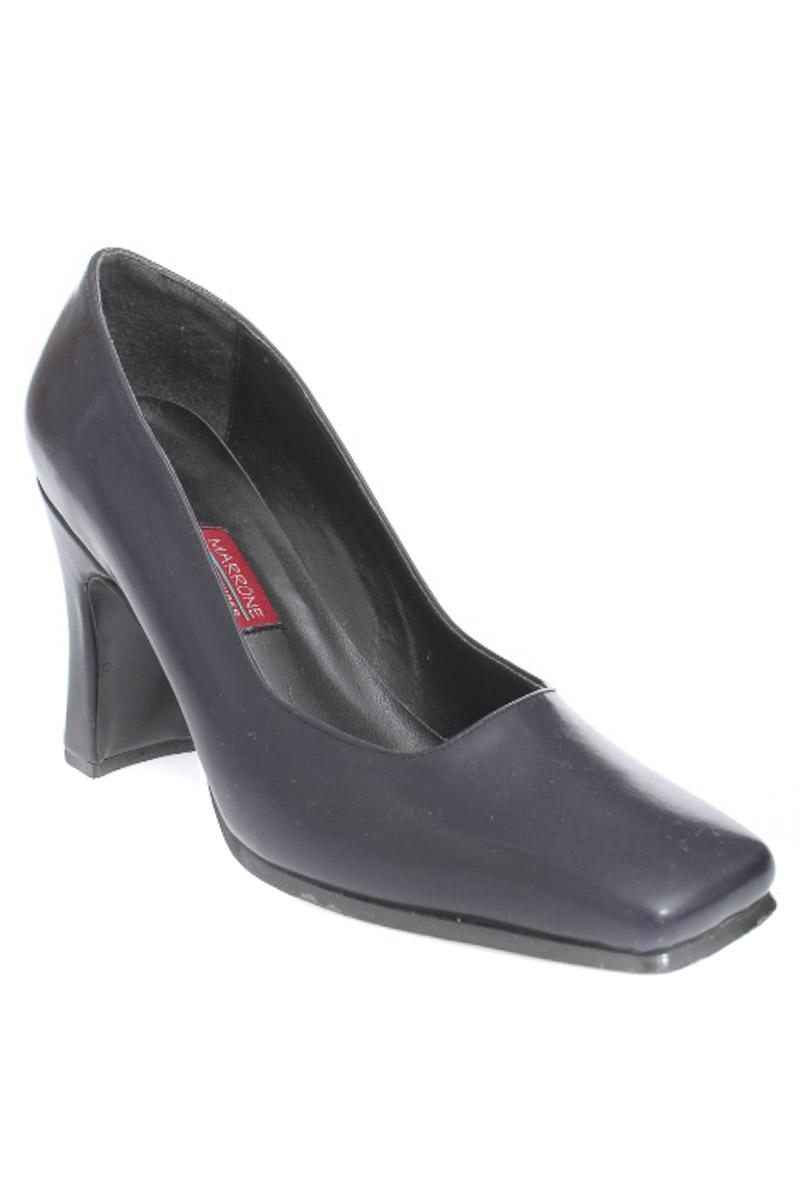 Zapatos Tacón color Azul - Marrone