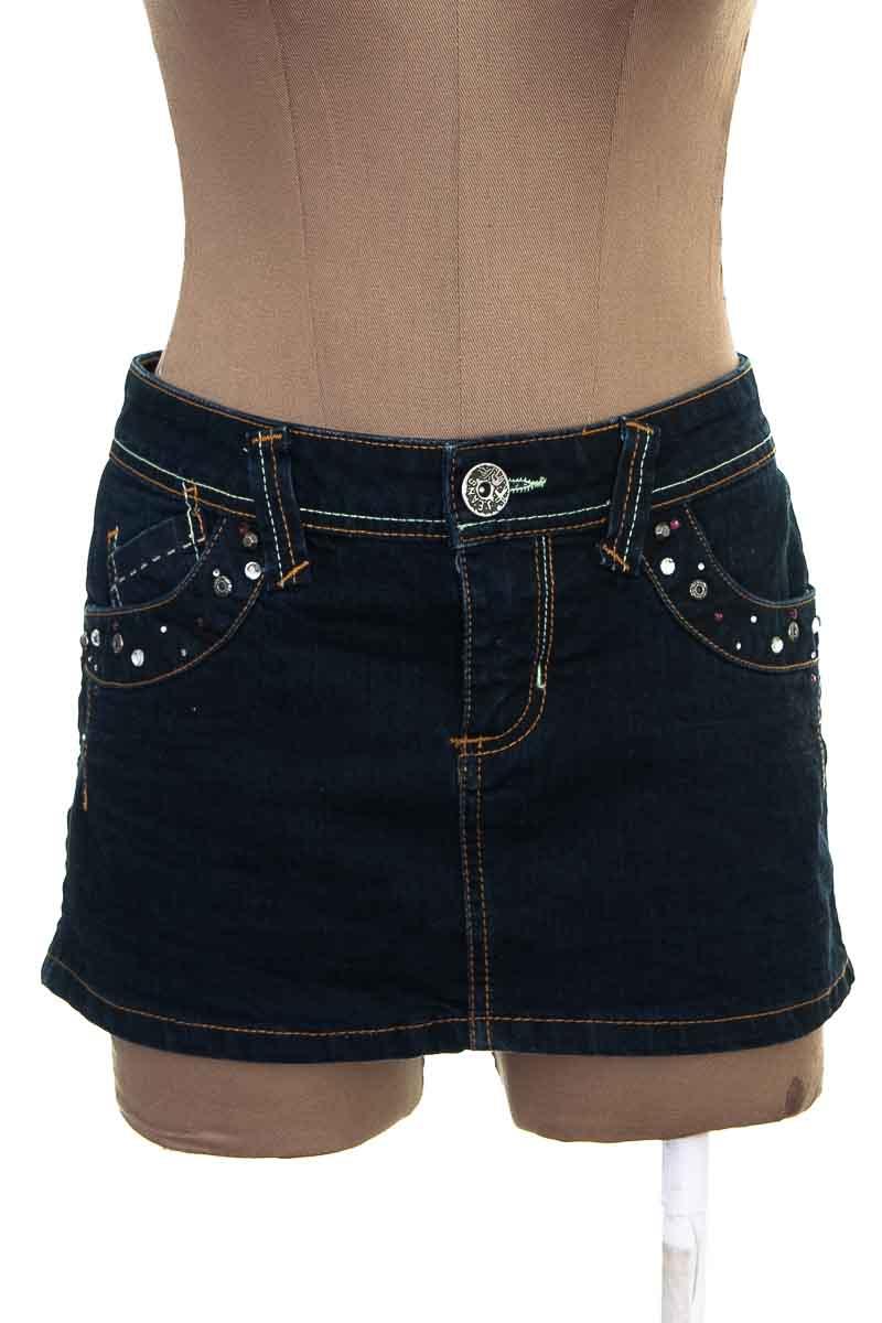 Falda Jean color Azul - Trf  Denim