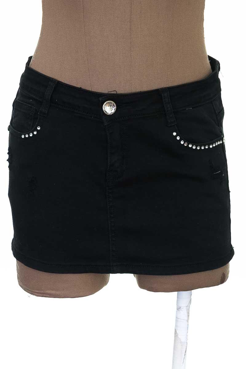 Falda Jean color Negro - Machine